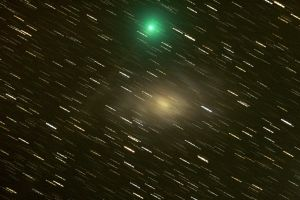 comet 8P-tuttle and M33 by frenchbear