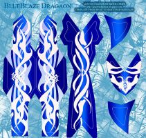 BakuTech Blue Blaze Dragaon Decals by Kyouseme-Arasaki