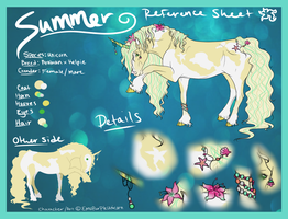 Summer Reference Sheet by FluffyAri