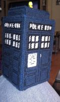 TARDIS Bank front and side view by CrushedRoses11