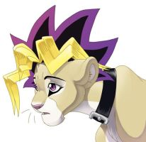 yugi lion by hibbary