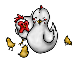 Harvest Moon Chickens by Canookian