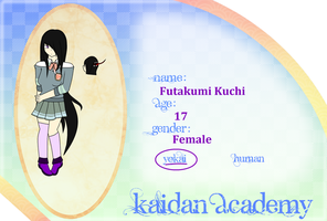 Kaidan Academy Application - Futakumi Kuchi by AdorableEvil29
