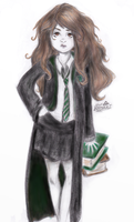 Slytherin Hermione by Flomaniaque