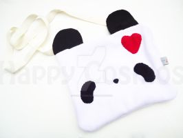 Heart Panda Bag by CosmiCosmos
