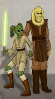 Padawan and Master by issuesmissflight