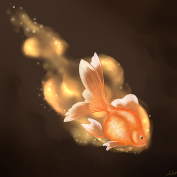 Gold Fish by CrimsonPearls