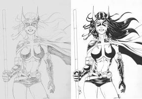 Huntress progression by JediDad