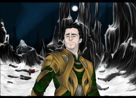 I won't let my brother march into Jotunheim alone by WINTER-SOLDI3R