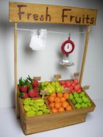 fresh fruit market stand by PetiteCreation