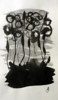 Abstraction in Ink #4 by Flutingspirit