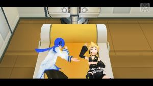 Kaito in Len's bed WTF XD by DemonChan22