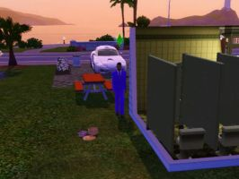 Sims 3 - Eugene paid a picnic meal to be served by Magic-Kristina-KW