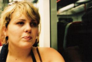 Callie on the Subway by mshernock
