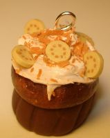 Chocolate banana cupcake by MotherMayIjewelry
