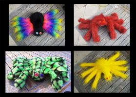 Plushie Spiders by StuffItCreations