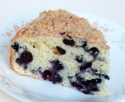 Blueberry Crumb Cake by Kitteh-Pawz