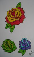 colourful trad roses by AsatorArise