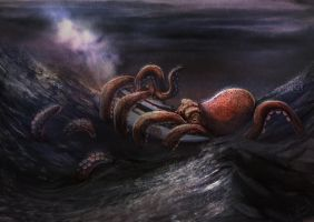 Octopus Attack by Jeyfro