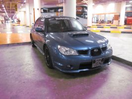 Impreza WRX in Parking lot by IlyaRacer