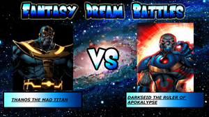 Thanos The Mad Titan vs Darkseid by WOLFBLADE111