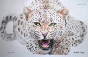 Leopard In Coloured Pencils by DansedesSonges
