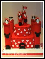 Minnie Mouse Castle Cake by gertygetsgangster