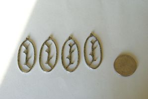 14 Silver Branch Charms by foowahu-etsy