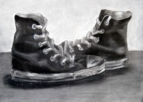 Charcoal Converse by freakxforxmusic