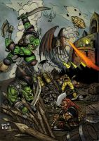 ThaneBobo's Orc Attack Colour by GH-MoNGo