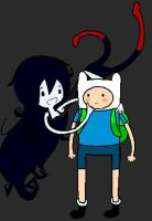 Marceline and Finn by IckyThumb