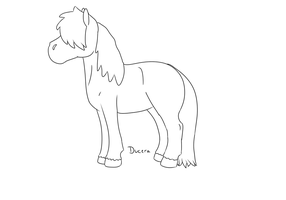 Cartoon pony lineart by Ducera