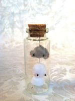 Teru Teru Bozu and Storm Cloud in a Bottle by PinkChocolate14