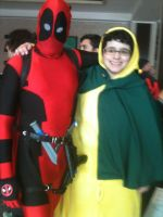 FluffyThePikachu and Deadpool by WolfKnox