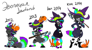 Evolution of Ladonb by LadonbKokosa