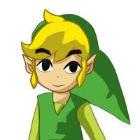 Toon Link coloring practice by LinkofSkyWind