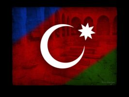 The flag of Azerbaijan by Numizmat