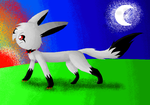 .:Darkness The Shadow Eevee:. by LunaticDemonLuny