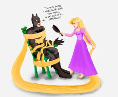 Batman All Tangled Up by LadyFoxill