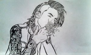 Yet another Andy Biersack in swirls by minikinney