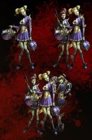 Cheerleader Zombie--Poker Heroes Zombie Faction by billydallaspatton