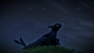 Little Fury under the night sky by Bravure