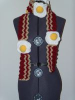 Bacon N' Eggs Scarf by gochika