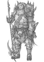 [COMMISSION] Maran - Half-Orc Marshal by s0ulafein