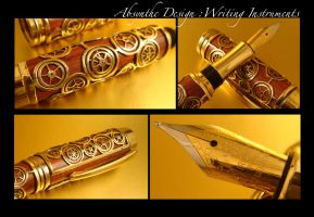 Steampunk Fountain Pen 2 by Absynthe Design by azazel-is-burning