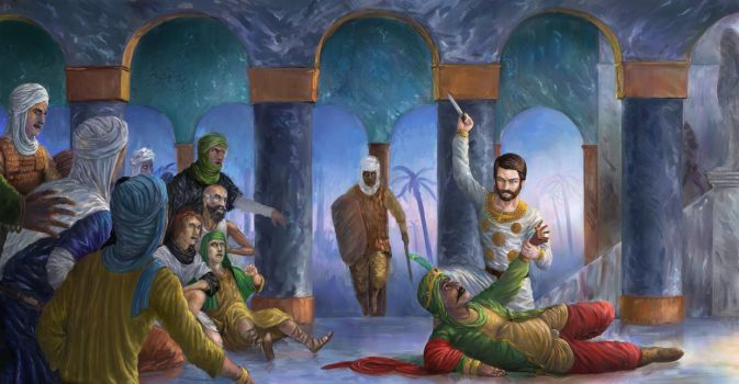 The assassination of caliph Umar by Theocrata