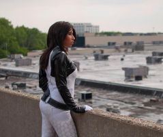 Miranda Lawson Cosplay-Rooftop by Caseychu
