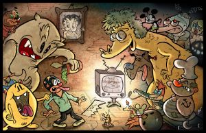 Cartoon Madness by HammersonHoek