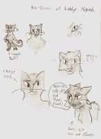 Concepts for Nyah by WingedWolfGirl