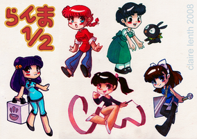 Ranma Biddies by prismageek